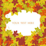 Autumn frame. Vector background. Vector illustration. Floral vector pattern. Fashion Graphic Design for your text. Bright colors l Stock Images