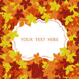 Autumn frame. Vector background. Vector illustration. Floral vector pattern. Fashion Graphic Design for your text. Bright colors l Stock Image