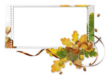 Autumn Frame With Acorns Royalty Free Stock Photography