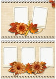 Autumn frames set Royalty Free Stock Photography