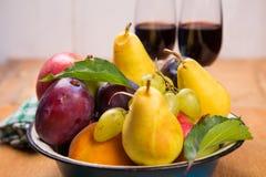 Autumn fresh fruits Royalty Free Stock Photos