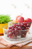 Autumn fresh fruits served on table. Royalty Free Stock Photography