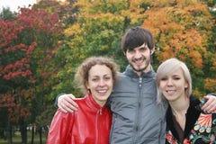Autumn friends Stock Image