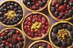 Autumn fruit cakes Royalty Free Stock Image