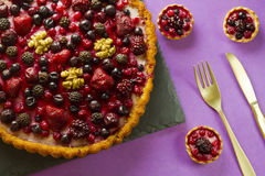 Autumn fruit cakes Stock Image