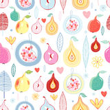 Autumn fruit pattern Stock Photography