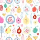 Autumn fruit pattern Stock Photography