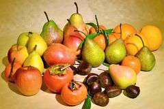 Autumn fruit, still life Royalty Free Stock Photography