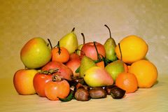 Autumn fruit, still life Stock Photos