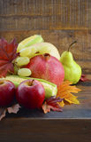 Autumn Fruit and Vegetable Background Stock Image