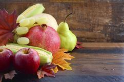 Autumn Fruit and Vegetable Background Royalty Free Stock Images