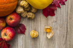 Autumn fruit and vegetables Royalty Free Stock Photos