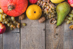 Autumn fruit and vegetables Stock Images