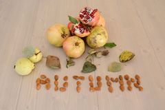 Autumn Fruits Royalty-vrije Stock Afbeeldingen
