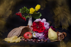 Autumn Fruits And Flowers Royalty Free Stock Image