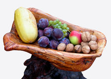 Autumn fruits arrangement Royalty Free Stock Photos