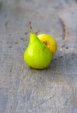 Autumn fruits pear and apple Royalty Free Stock Photography