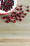 Autumn fruits: the seeds of a pomegranate Royalty Free Stock Image