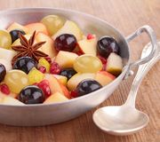Autumn fruits with star anise Royalty Free Stock Image