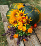 Autumn fruits,vegetables and flowers Royalty Free Stock Photography