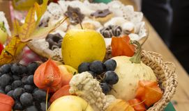 Autumn fruits and vegetables. Prepared for autumn festivities Royalty Free Stock Image
