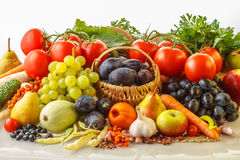 Autumn fruits and vegetables Stock Image