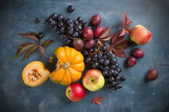 Autumn fruits  and vegetables Stock Photo