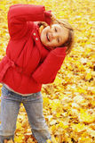 Autumn fun in the park Royalty Free Stock Images