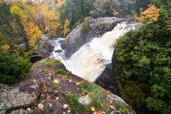 Autumn at Gabbro Falls in the Upper Peninsula of Michigan Royalty Free Stock Image