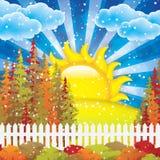 Autumn garden Stock Image