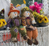 Autumn garden decorations Royalty Free Stock Images