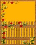 Autumn garden fence Stock Photo