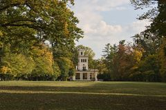 Autumn garden house. Is a photo of Zagreb's park Maksimir Royalty Free Stock Images