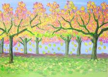 Autumn garden, illustration Royalty Free Stock Photography