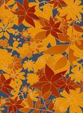 Autumn garden pattern Stock Photo