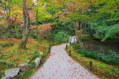 Autumn Garden and pond at Enkoji temple Stock Photo