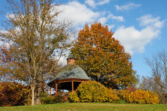 Autumn Gazebo and Garden Vienna Virginia Royalty Free Stock Photo