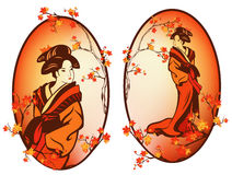 Autumn geisha Stock Image