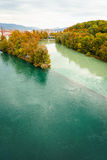 Colliding Rivers in Geneva Royalty Free Stock Photography
