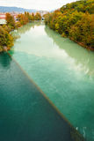Colliding Rivers in Geneva Stock Photos