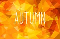 Autumn geometric background Stock Images