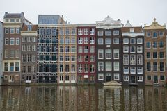 Autumn geometry of Amsterdam. Netherlands Royalty Free Stock Image