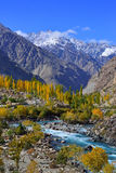 Autumn at Ghizer Valley. Northern Pakistan. Stock Photo