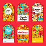 Autumn Gift Labels ilustración del vector