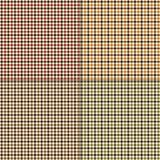 Autumn gingham plaids. Vector background patterns stock illustration