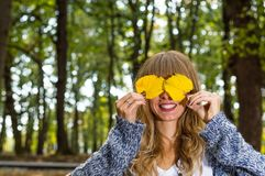 Autumn Girl Royaltyfri Foto