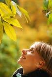 Autumn girl Stock Photography