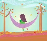 Autumn. Girl. Royalty Free Stock Photography