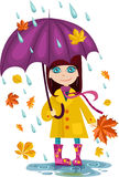 Autumn girl Stock Photos