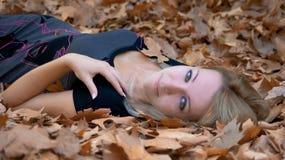 Autumn girl Stock Image